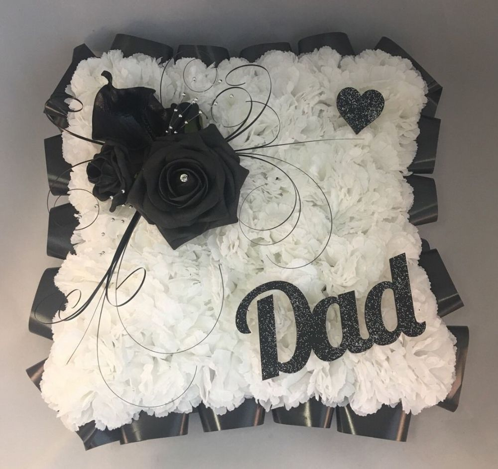 Grave flowers for birthday kitchen cabinets and flower artificial funeral flowers silk wreath grave white black any name izmirmasajfo